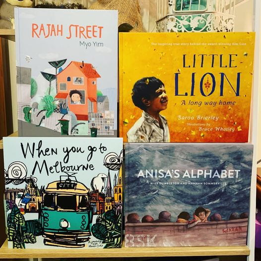 Rajah Street, Little Lion, When You Go To Melbourne, and Anisa's Alphabet